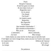 Paris respire l'amour, par Fayçal
