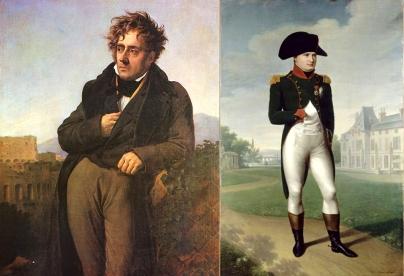 11 Portrait de Chateaubriand par Anne-Louis Girodet-1809 / Portrait de Napoléon par Francois Gerard 1804