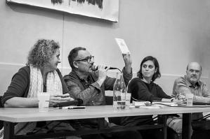 Salon AGORA Fête du livre de Bellême 2019 (avec Tiffany Tavernier - Raphaëlle Riol - Yves Landry) © Stéphane Boichon