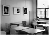 """14 """"Le lecteur"""" - Mon ami l'écrivain Christian Estèbe lors de mon exposition à la Médiathèque de Vélizy-Villacoublay - © B. Runtz"""