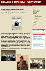 Blog du Collège Tomas Divi, Châteaudun