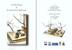 Couverture et 4ém de couverture livre de restitution d'un atelier avec deux classes de CM1 et CM2